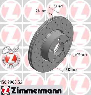 Тормозной диск ZIMMERMANN 150.2900.52 - изображение