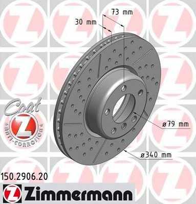 Тормозной диск ZIMMERMANN 150.2906.20 - изображение