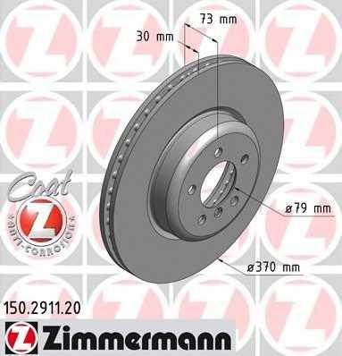 Тормозной диск ZIMMERMANN 150.2911.20 - изображение