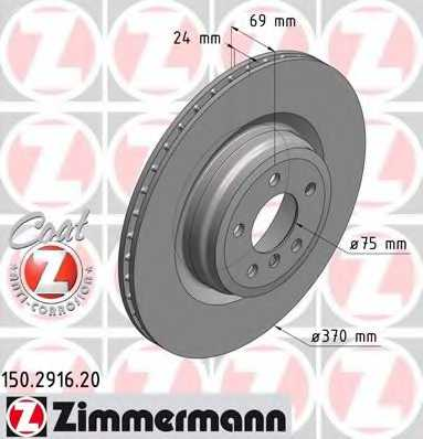 Тормозной диск ZIMMERMANN 150.2916.20 - изображение