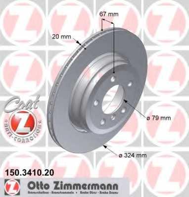 Тормозной диск ZIMMERMANN 150.3410.20 - изображение