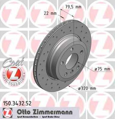 Тормозной диск ZIMMERMANN 150.3432.52 - изображение
