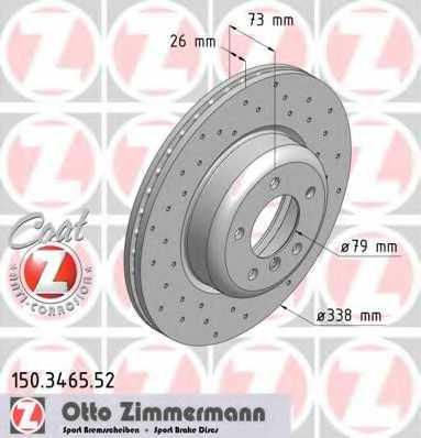Тормозной диск ZIMMERMANN 150.3465.52 - изображение