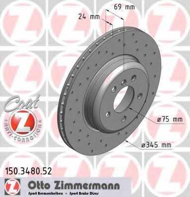 Тормозной диск ZIMMERMANN 150.3480.52 - изображение