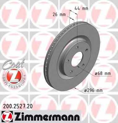 Тормозной диск ZIMMERMANN 200.2527.20 - изображение