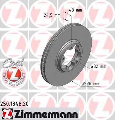 Тормозной диск ZIMMERMANN 250.1348.20 - изображение