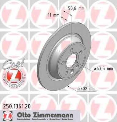 Тормозной диск ZIMMERMANN 250.1361.20 - изображение