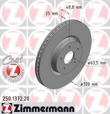 Тормозной диск ZIMMERMANN 250.1372.20 - изображение