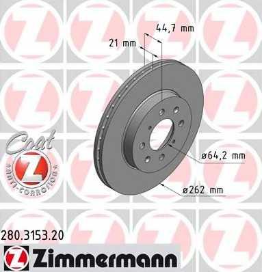 Тормозной диск ZIMMERMANN 280.3153.20 - изображение