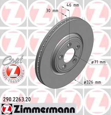 Тормозной диск ZIMMERMANN 290.2263.20 - изображение