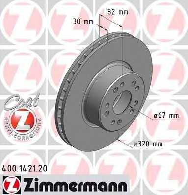 Тормозной диск ZIMMERMANN 400.1421.20 - изображение