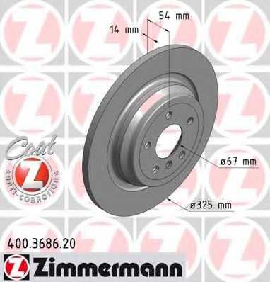 Тормозной диск ZIMMERMANN 400.3686.20 - изображение