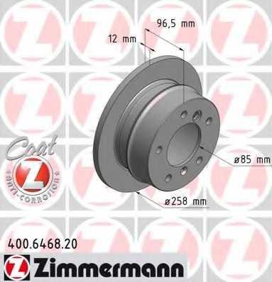 Тормозной диск ZIMMERMANN 400.6468.20 - изображение