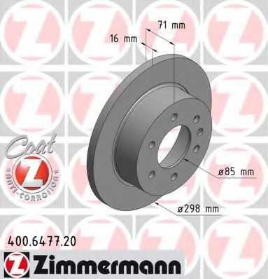 Тормозной диск ZIMMERMANN 400.6477.20 - изображение