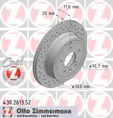 Тормозной диск ZIMMERMANN 430.2613.52 - изображение
