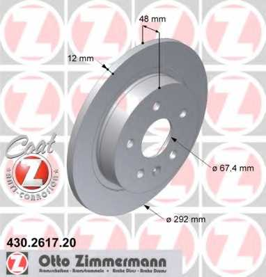 Тормозной диск ZIMMERMANN 430.2617.20 - изображение