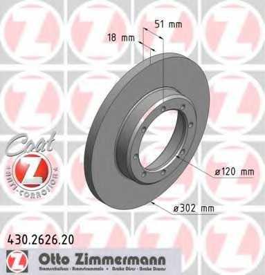 Тормозной диск ZIMMERMANN 430.2626.20 - изображение