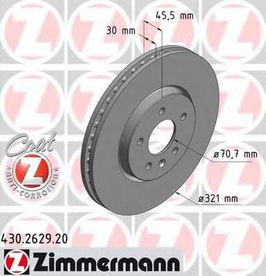 Тормозной диск ZIMMERMANN 430.2629.20 - изображение
