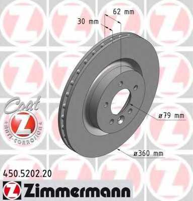 Тормозной диск ZIMMERMANN 450.5202.20 - изображение