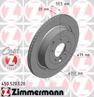 Тормозной диск ZIMMERMANN 450.5203.20 - изображение