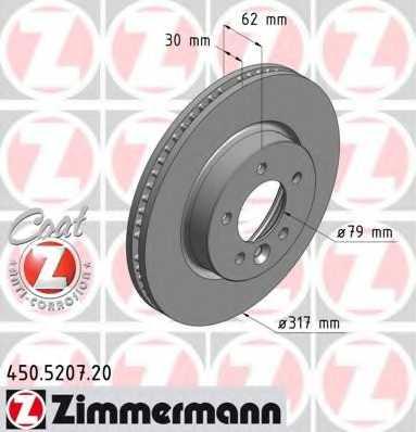 Тормозной диск ZIMMERMANN 450.5207.20 - изображение