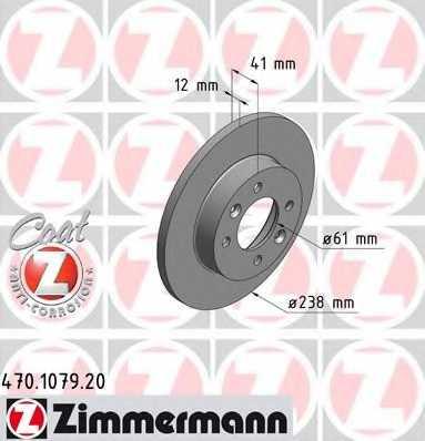 Тормозной диск ZIMMERMANN 470.1079.20 - изображение