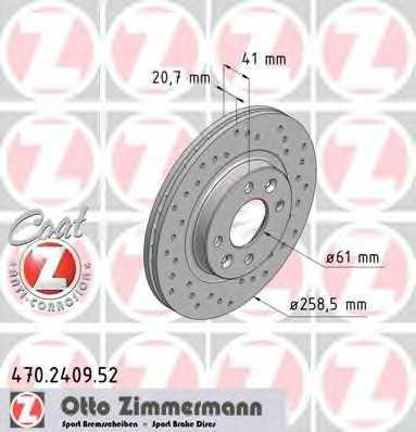 Тормозной диск ZIMMERMANN 470.2409.52 - изображение