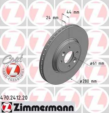 Тормозной диск ZIMMERMANN 470.2412.20 - изображение