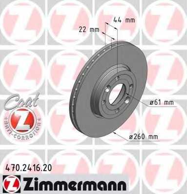 Тормозной диск ZIMMERMANN 470.2416.20 - изображение
