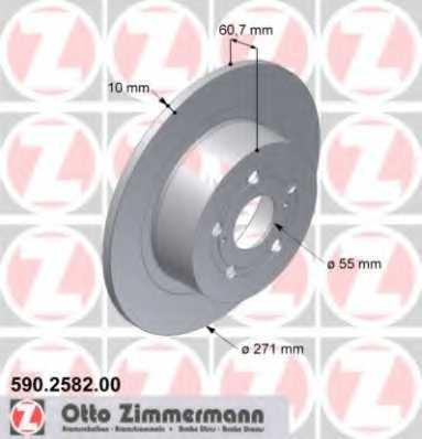 Тормозной диск ZIMMERMANN 590.2582.00 - изображение
