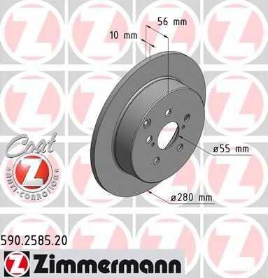 Тормозной диск ZIMMERMANN 590.2585.20 - изображение