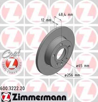 Тормозной диск ZIMMERMANN 600.3222.20 - изображение