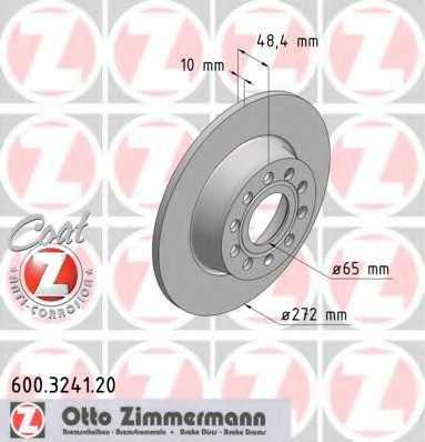 Тормозной диск ZIMMERMANN 600.3241.20 - изображение