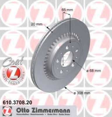 Тормозной диск ZIMMERMANN 610.3708.20 - изображение