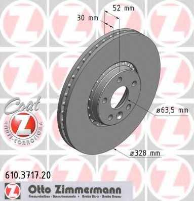 Тормозной диск ZIMMERMANN 610.3717.20 - изображение